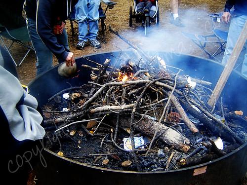 Building the bonfire
