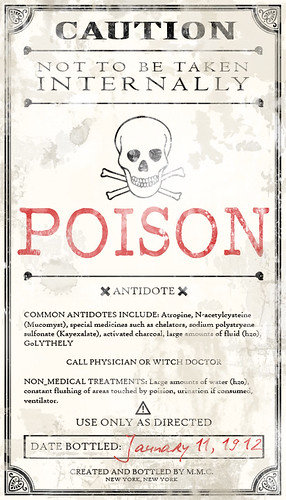 Potion Ingredients Label by Love Manor.