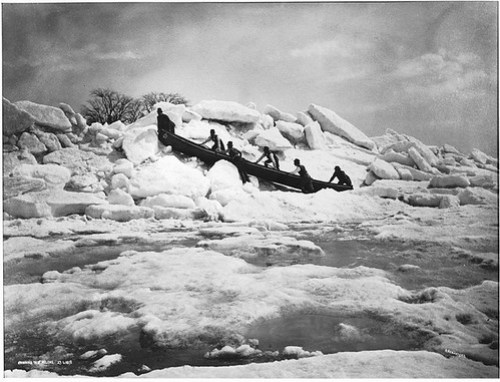 Crossing to St. Helen's Island, near Montreal, QC, 1875