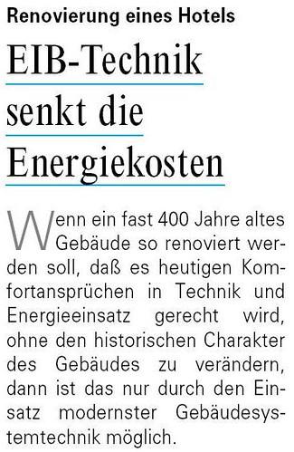 EIB und Energiesparen 1994