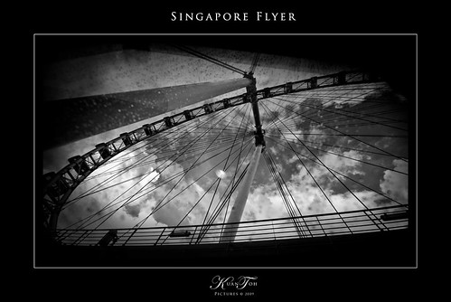 Singapore Flyer - Black & White 1