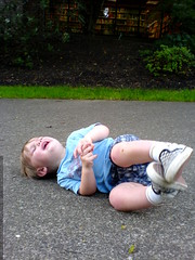 all-out tantrum on the sidewalk outside the pu...