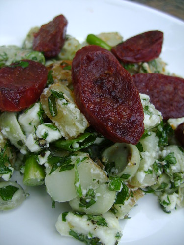 Chorizo , Broad Bean , New Potato , Feta Minted Salad
