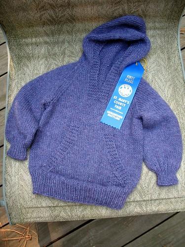 Blue Ribbon Sweater