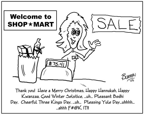 Bearman Cartoon: Happy Holidays