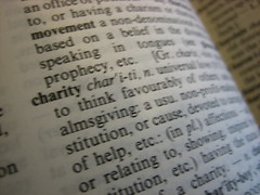 Charity in the dictionary