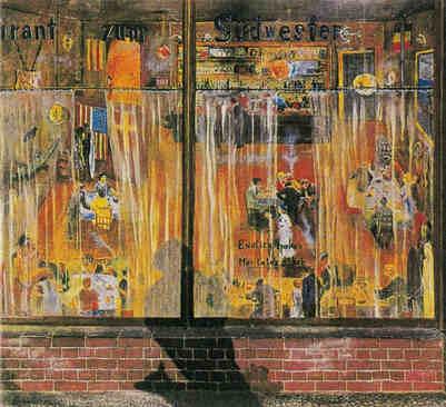 Hafenkneipe, Öl, 1933, verschollen