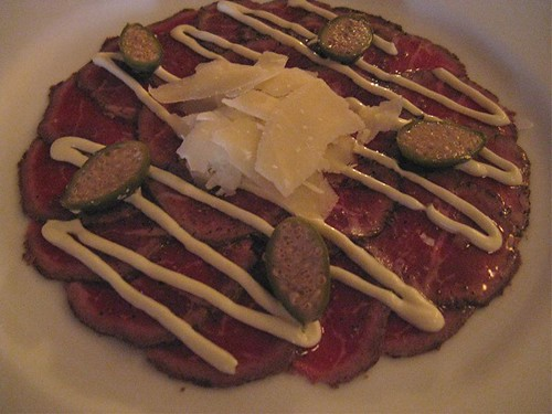 carpaccio at cru