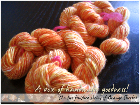 The two skeins of Orange Sherbet