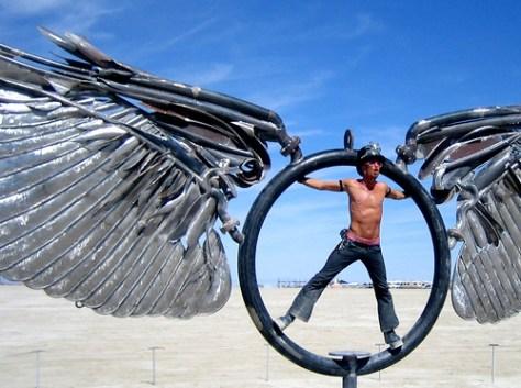gorgeous spinning playa wings
