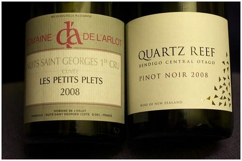 Quartz Reef Bendigo Pinot Noir and de l'Arlot NSG 1er Cru 2008 by mengteck