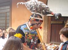 Apresentação do �ndio da tribo Meninako