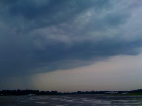Rain over Bowman Field