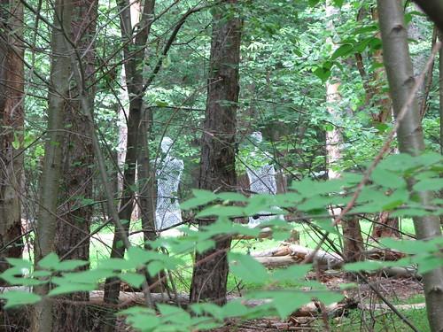 figures in the woods