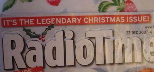 Christmas Radio Times 2007