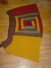 Log Cabin Blanket - 1st Brown Side Panel done