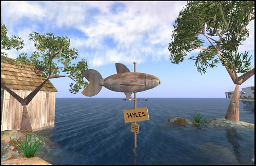 Hyles Welcome Area.  Second Life