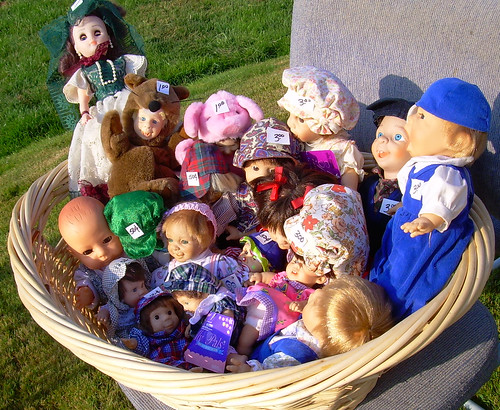 Basket of dolls