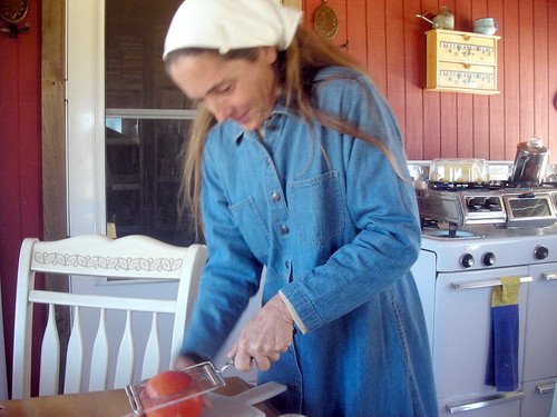 Mrs Danielle Bunker making lunch by you.