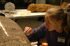 Sara works on the Sarcophagus