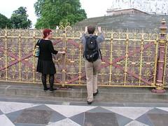 Helen and Paul at the Albert Memorial, Kensington Gardens, London