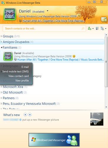 Windows Live Messenger Beta Version 2009