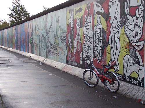 um trecho do Muro conservado para a história