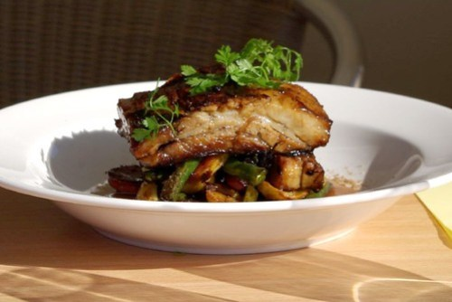 Five Spiced Pork at Crooked River Winery Cafe