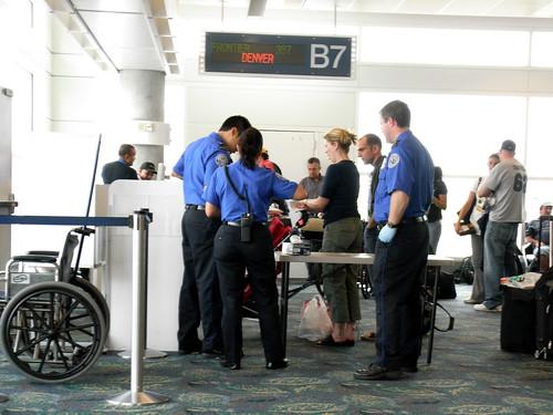 TSA at Gate B9
