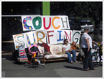 Car Free Commercial Drive 2008 Couch Surfing