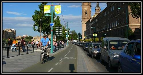Carril Bici Zaragoza. Foto de Ibirque.