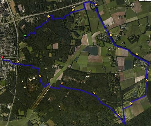 kaart van route