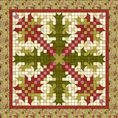 Christmas Cactus by Sandi Walton at Piecemeal Quilts