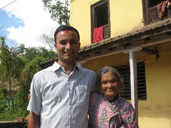 Sanjeev & Grandmother