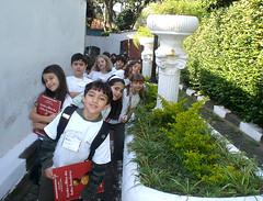 Chegada dos alunos ao Museu do �ndio