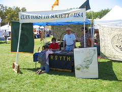 Visiting the Clan Forsyth tent