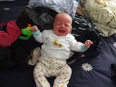 No mummy, I don't *wanna* help fold clothes!