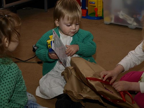 Tilly opening presents