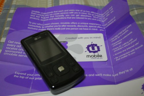 LG KU320 and a U Mobile SIM Pack