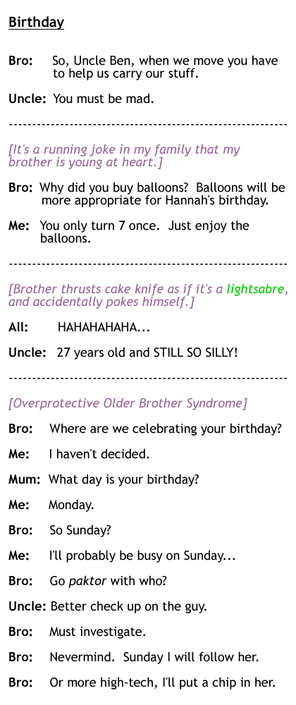 Birthday, my brother\'s - 2