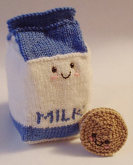 Amigurumi Milk and Cookie by jellybum