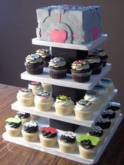 Retro Video Game Cupcake Tower