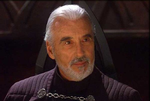 Christopher Lee in Star Wars Episode II Attack of the Clones -2002 por ti.