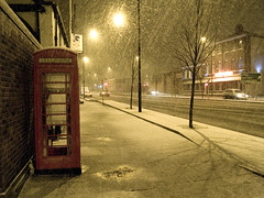 Phone Box In The Snow