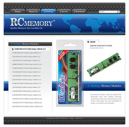 RC Memory - Desktop Memory Page
