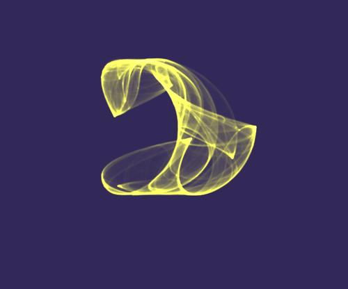 Escultura virtual creada con Fyre 1.0