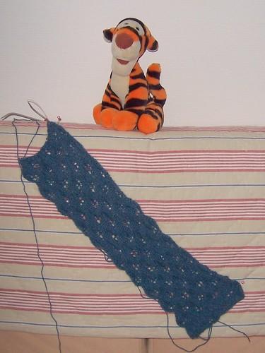 Woodland tørklæde - så langt er jeg nået