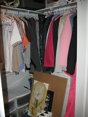 Organized and purged closet right side