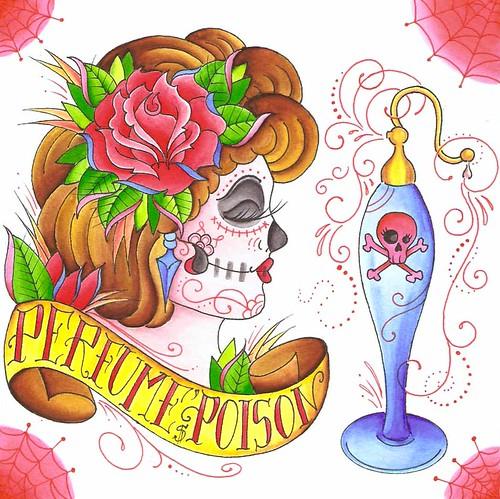 Perfume Poison tattoo art work
