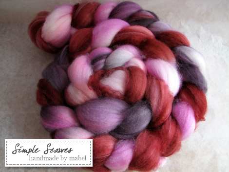 Superwash Merino in Cassis Swirl Jam
